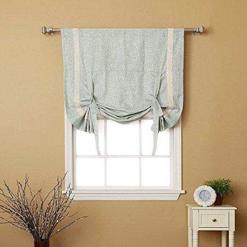 Tieup Bordered Heavyweight Textured Faux Linen Grommet Top curtain- 63 42