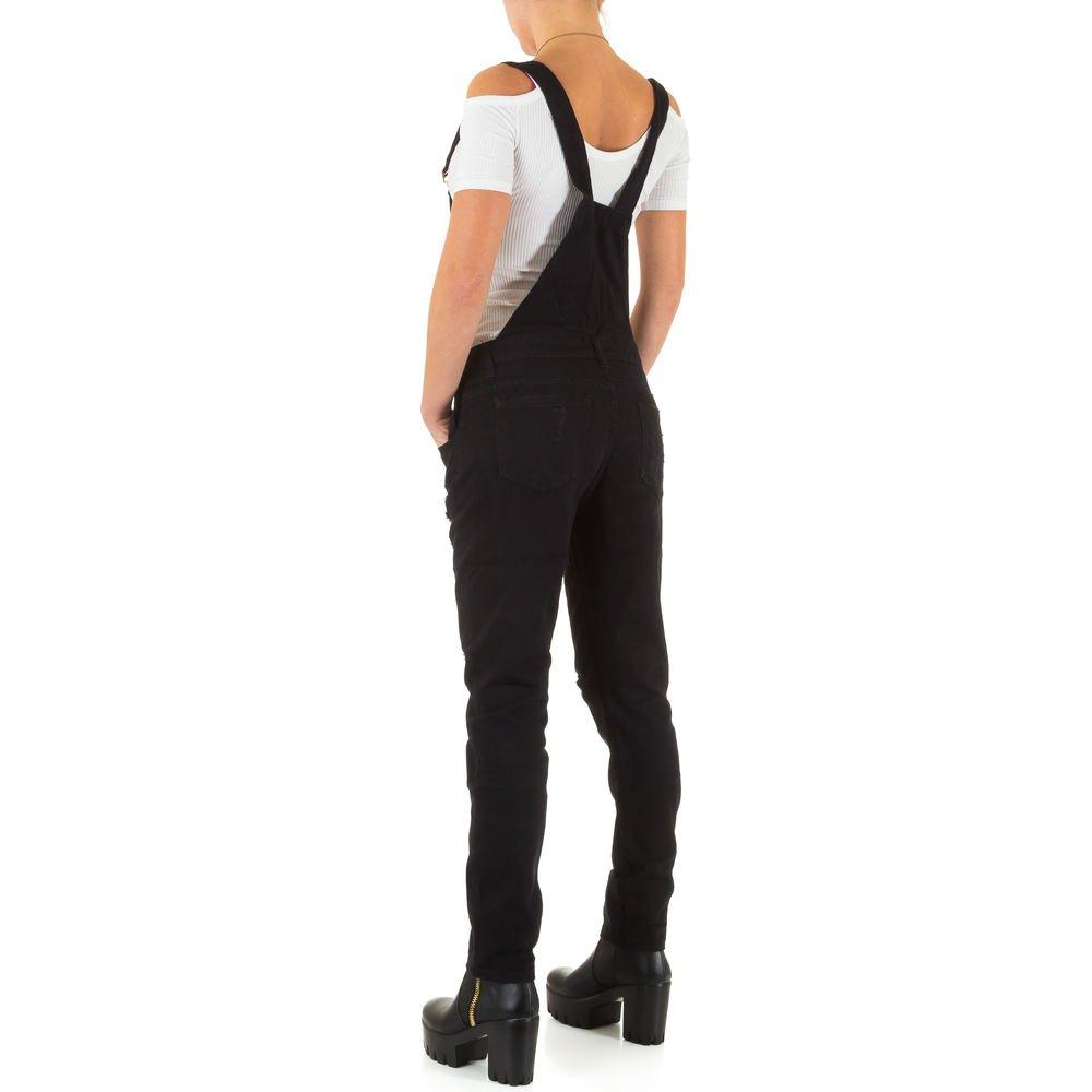 Damen Jeans Hose Jeanshose Destroyed Latzjeans Latzhose Hose mit Träger  Overall Schwarz: Amazon.de: Bekleidung