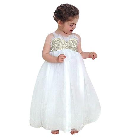 Amazon.com: Gufenban - Vestido para niña con flores, vestido ...
