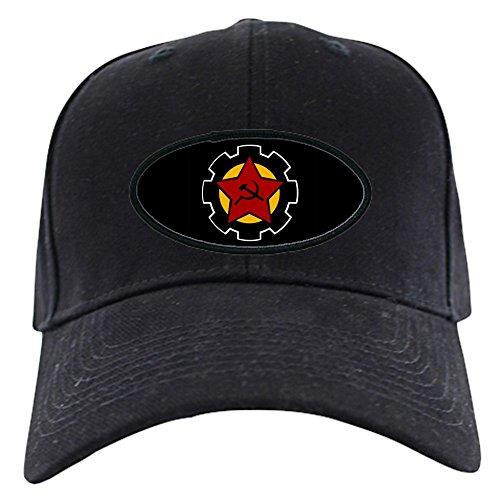 (CafePress - Black Iron Gear Cap - Baseball Hat, Novelty Black Cap)