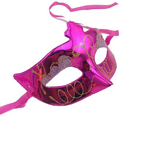 Kerocy Party Mask Halloween Half Bulk plated wedding props masquerade mardi gras mask (rose (Halloween Half Painted Faces)