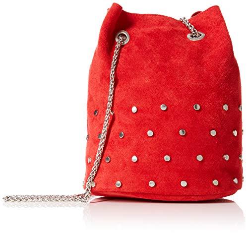 New Look Tami Tassel, Sacs portés épaule femme, Rouge (Bright Red), 10x19x15 cm (W x H L)