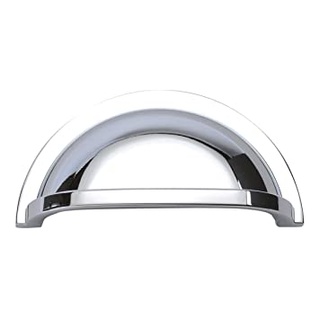Hickory Hardware P3055 CH Williamsburg Cup Cabinet Pull, 3 Inch, Chrome