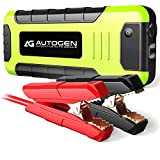 AUTOGEN 2000 Amp Portable Jump Starter for Vehicles (up to 8.0L Gas or 6.5L Diesel) & Quick Charge 3.0 Power Bank, with Heavy Duty Error-Proof Intelligent Cables for Cars Boats RVs & Mowers