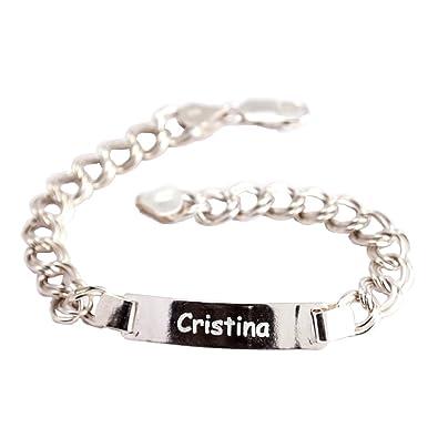 37837ec3c96f Calledelregalo Regalo para mujeres personalizable  esclava de plata grabada  con el texto que quieras  Amazon.es  Joyería