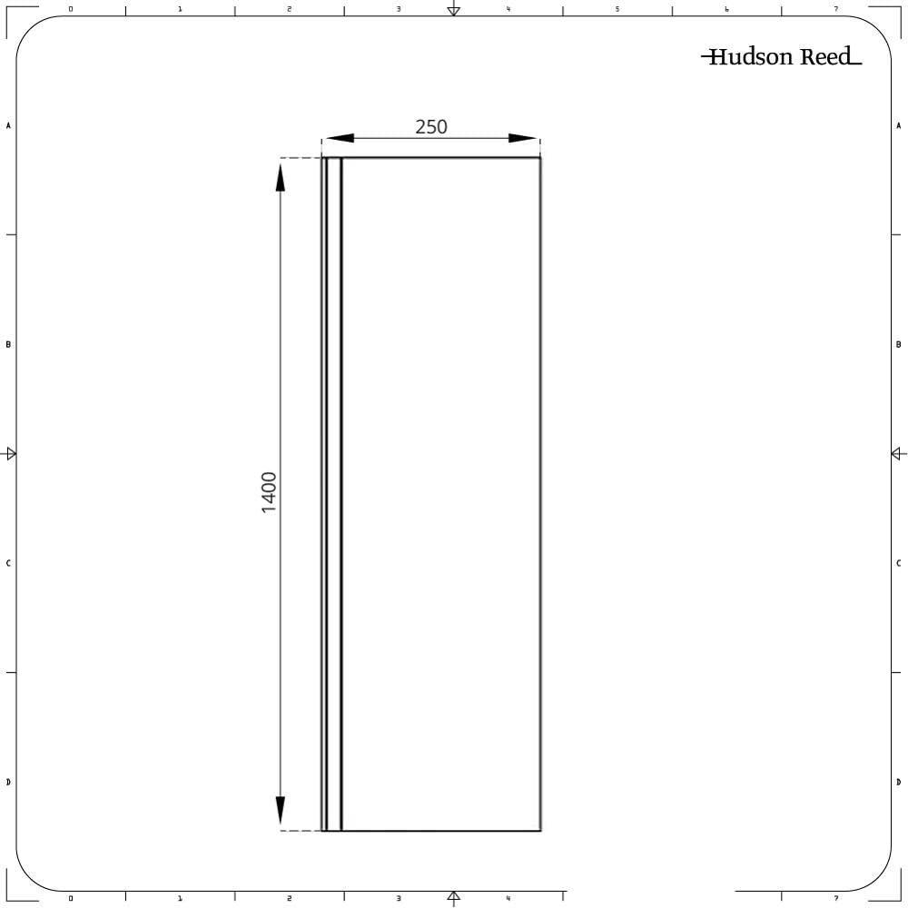 Hudson Reed Pare-Baignoire Verre Transparent S/écurit/é Trait/é Anti-Calcaire 140x25cm Portland
