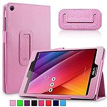 Infiland Asus Zenpad S 8.0 (Z580C/Z580CA) Case, Folio Premium PU Leather Stand Cover Fit 2015 Released ASUS ZenPad S 8 Z580C / Z580CA 8-Inch Tablet (ASUS Zenpad S 8.0 , Pink)
