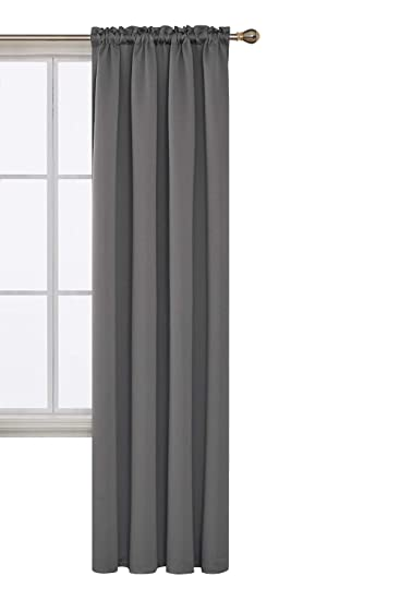 Amazon Deconovo Light Grey Blackout Curtains Rod Pocket