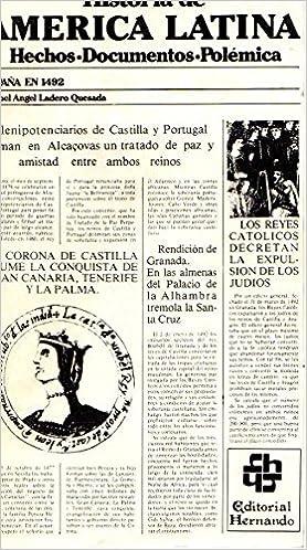 Historia de América latina. tomo 1: España en 1492: Amazon.es: Ladero Quesada, Miguel Ángel: Libros