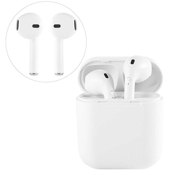 I8 Auriculares Bluetooth Auriculares inalámbricos con micrófono Auriculares y Estuche de Carga, Compatible con Apple iPhone X 8 7 Plus Plus Samsung Android ...