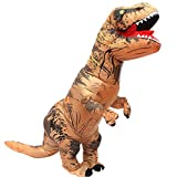 Tricandide Inflatable Dinosaur T-REX Adult Halloween Costume Cosplay Blow up Costume
