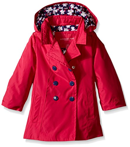 london-fog-baby-girls-solid-enhanced-radiance-trench-fuchsia-12-months
