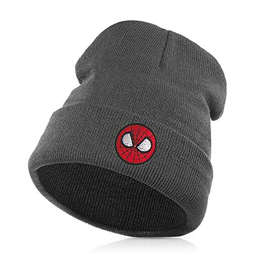 68d8305b960 Elvy Beanie Hat Skullie Cap Slouchy Winter Embroidery Punk Men Women Boy  Girl Teens Street Dance Customized - Spider Man red  Amazon.in  Clothing    ...