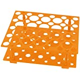uxcell Laboratory Orange 50 Test Tubes 30mm 15mm Tubing Holder Stand Rack