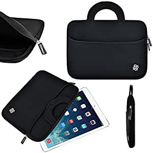 8.99 Inch Tablet Sleeve, KOZMICC Tablet Case Cover (Black) w/ Handle