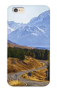 New Tpu Hard Case Premium Iphone 6 Skin Case Cover(mount Cook National Park New Zealand Mountain Road Trees Landscape )