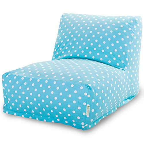 Majestic Home Goods Aquamarine Small Polka Dot Bean Bag Chair Lounger