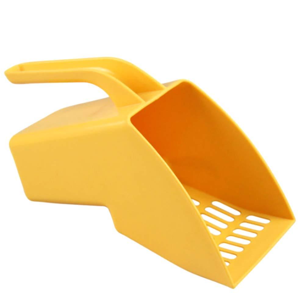 Large Diameter greenical-Style Cat Litter Scoop Large Cat Shovel Cat Litter Cat Litter Box Cleaner Shovel Durable Shovel (Yellow)