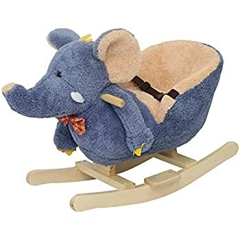 Attractive Kinbor Baby Kids Toy Plush Rocking Horse Little Elephant Theme Style Riding  Rocker With Sound,