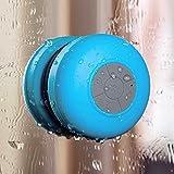 Arc Bluetooth Waterproof Wireless Shower Handsfree Mic Suction Chuck Speaker Blue