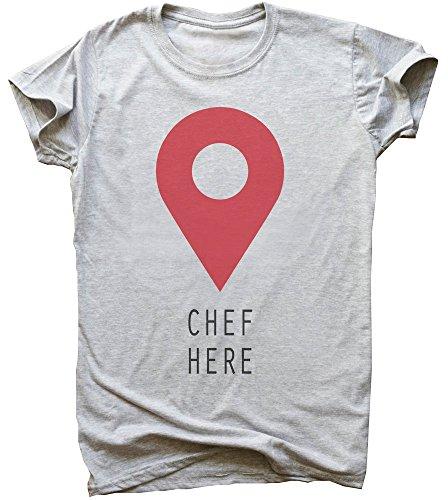 Chef Here Location Pin Men's T-Shirt