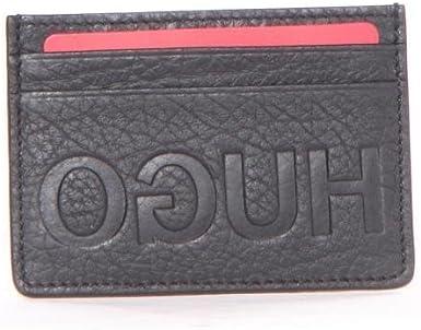 Hugo Boss Men/'s Victorian Genuine Black Leather Money Clip Wallet
