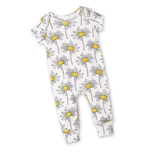 Home Daisy - Tesa Babe Spring Floral Romper for Newborns, Baby Girls & Toddlers, Multi (Yellow Daisies, Newborn)