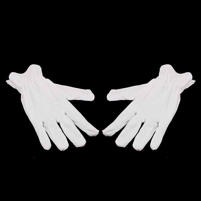 eDealMax 10 pares de guantes llenos del dedo de microfibra de trabajo de trabajo sobre protección antiestática Tamaño Medio - - Amazon.com