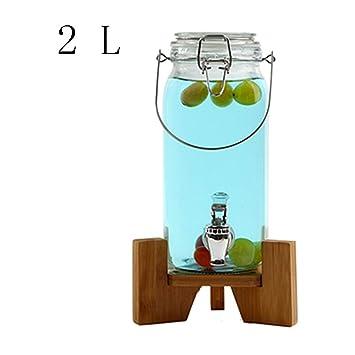 Tienda Latas De Jugo Dispensador De Bebidas De Vidrio Botella De Vino Transparente Enzima Barril Hogar Fruta Bebida Barril Dispensador De Agua En Casa: ...