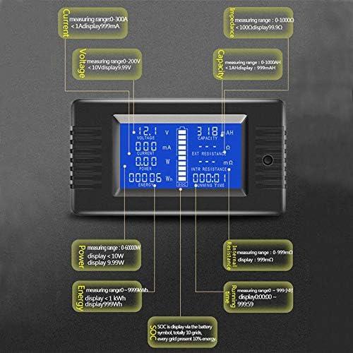 TOOGOO 0-200V 300A Voltm/èTre Amp/èRem/èTre Testeur de Batterie Num/éRique Int/éGr/é Shunt Capacit/é R/éSistance /éLectricit/é Tension M/èTre Moniteur