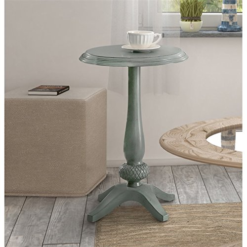 Furniture of America Vito Pedestal Table in Teal