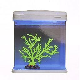 Saim Light Blue Artificial Coral Plant Fish Tank Decor