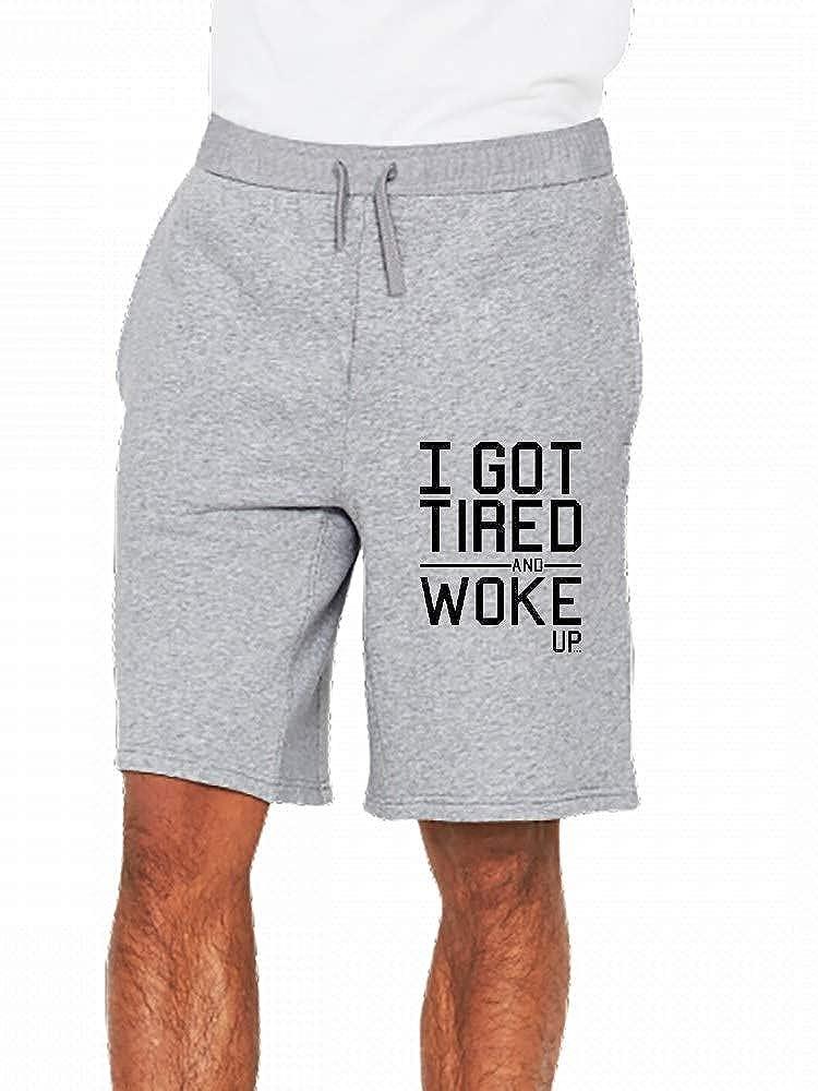 JiJingHeWang Igottiredandwokeup Mens Casual Shorts Pants