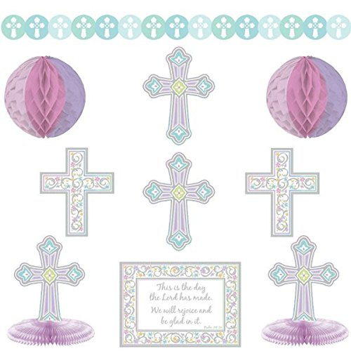 Amscan 249420 Blessed Day Decorating Kit Party Supplies,