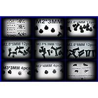 Laptop Schrauben-Set, Tellerkopfschrauben, verzinkt, passend für Dell und HP Reihe, Latitude, Vostro, Inspiron, Xps, Precision, Studio, Pavilion, Presario, 62-teilig, Schwarz