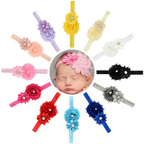 Baby Girls Headbands Flowers Soft Hair Band Headwear Hair Accessory