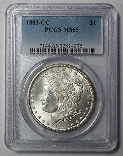1883 CC Morgan Silver Dollar $1 MS65 PCGS
