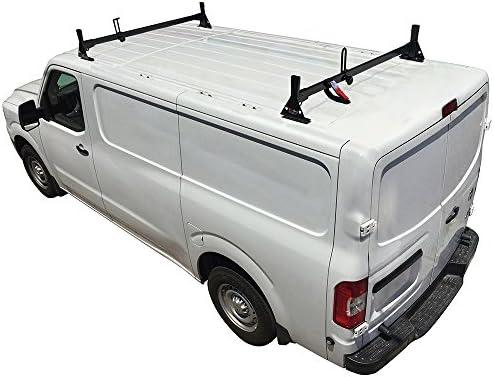 H1 2 bar bajo perfil escalera – Baca para Nissan NV Cargo Van Acero: Amazon.es: Coche y moto