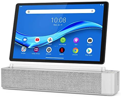 "Lenovo Smart Tab M10 Plus, FHD 10.3"" Android Tablet, Alexa-Enabled Smart Device, Octa-Core Processor, 64GB Storage, 4GB RAM, Wi-Fi, Bluetooth, ZA6M0017US, Platinum Grey"