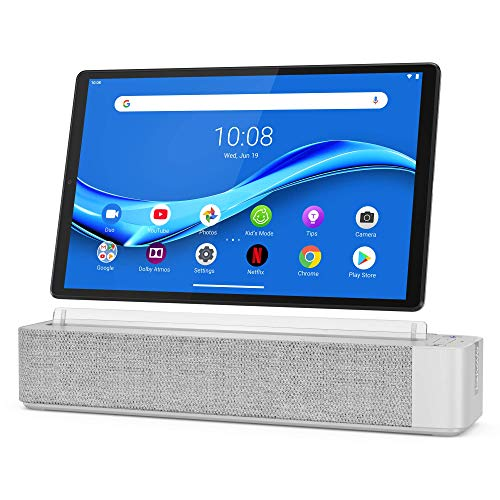 Lenovo Smart Tab M10 Plus, FHD 10.3″ Android Tablet, Alexa-Enabled Smart Device, Octa-Core Processor, 32GB Storage, 2GB RAM, Wi-Fi, Bluetooth, ZA6M0030US, Platinum Grey