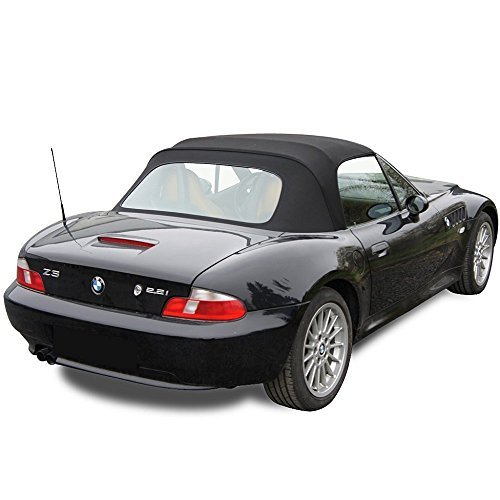 BMW Z3 Convertible Top in Black Twill Vinyl with Plastic Window 1996-2002