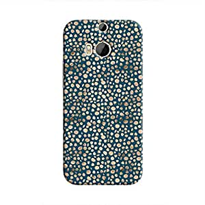 Cover It Up - Brown Navy Pebbles Mosaic One M9 Plus Hard Case