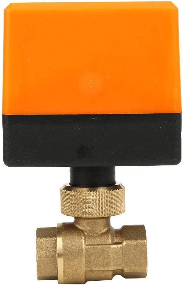 LONGJUAN-C Solenoid G3//8 DN10 Motorized Ball Valve,AC220V Electrical Valve,3-Wire 2-Point Control Pipe Valve,2 Way Electric Ball Valve,for Heating,air Conditioning Systems,Floor Heating Systems Valve