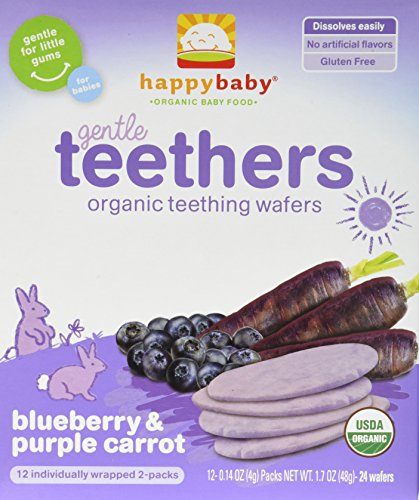 Organic Blueberry Carrot Teethers Wafers