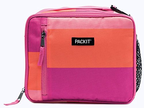 PackIt Freezable Classic Lunch Box, Pink Beach ()