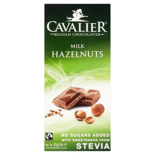 Cavalier Milk Chocolate with Hazelnuts Bar 85g - Pack of 2 (Cavalier Chocolate compare prices)