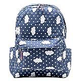 Damara Students Preppy Style Oxford Canvas Blue Backpack Shoulders Bag,Cloud For Sale