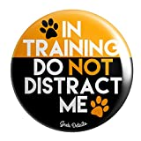 Geek Details Service Dog Themed Pinback Button In