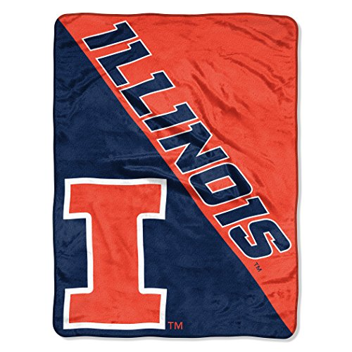 The Northwest Company Officially Licensed NCAA Illinois Illini Halftone Micro Raschel Throw Blanket, 46