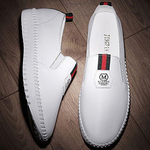 Blanc Enfiler Confort À Chaussure Plateforme Femme Basket Simple Pww407x